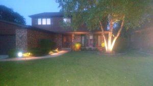 Landscape lighting installed in Mount Prospect