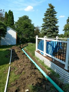 backyard drainage system in Naperville