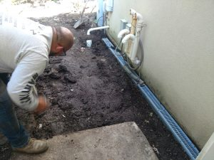 landscape drainage system installed in highland park