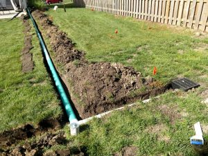 Landscape Drainage System Installed in Algonquin
