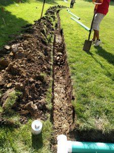 landscape drainage line algonquin